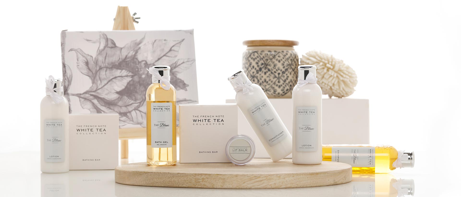 Luxury Hotel Toiletries India, The French Note® White tea Collection The Blanc, Kimirica Hunter International