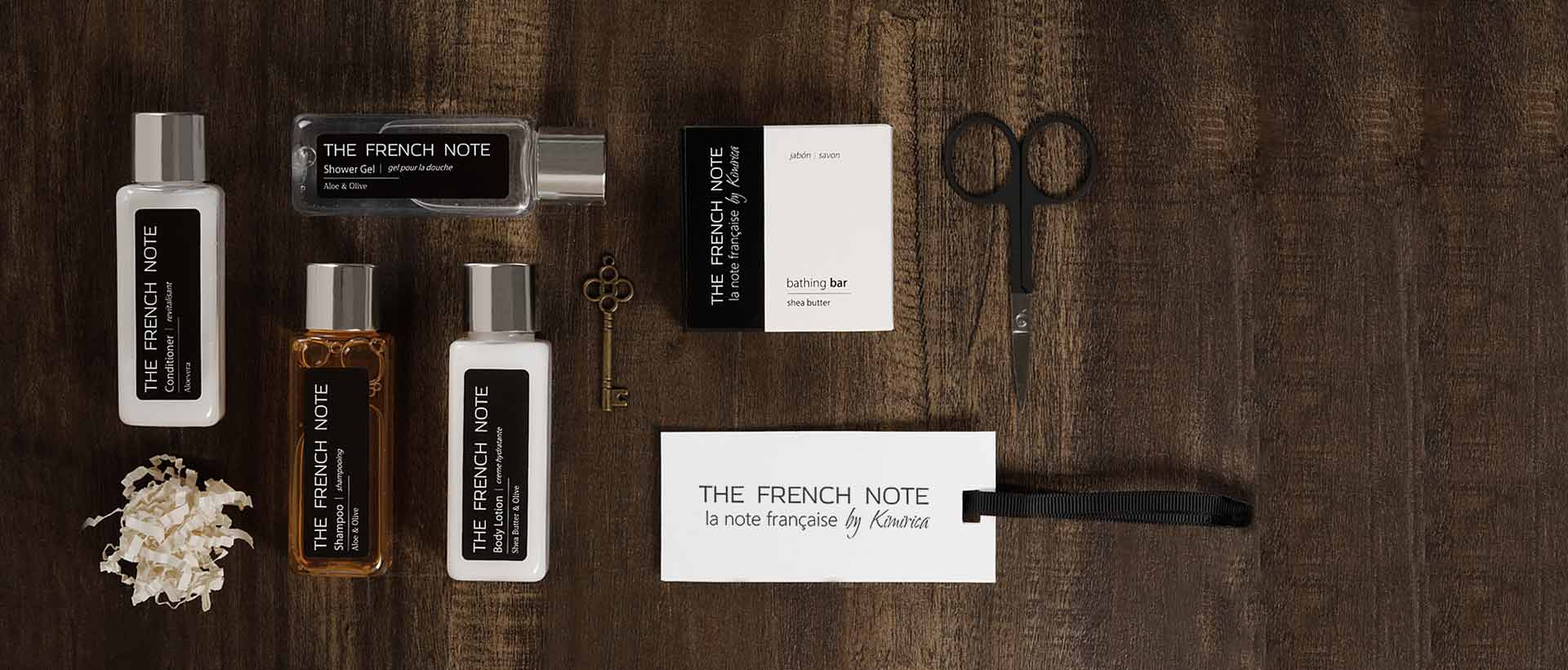 Hotel Toiletries India, The French Note®, Kimirica Hunter International